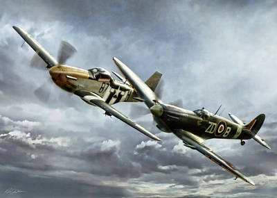 Supermarine Digital Art - Brothers In Arms 2 by Peter Chilelli