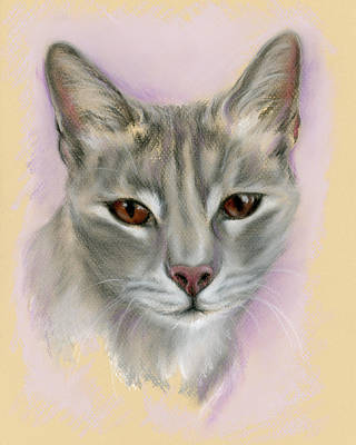 Gray Tabby Pastel - Brown Eyed Girl by MM Anderson
