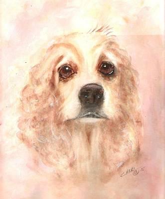 Cocker Spaniel Painting - Brown Eyes by Cheri Meyer