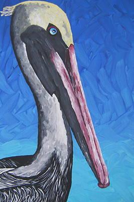 Pelican Painting - Brown Pelican by Nick Flavin