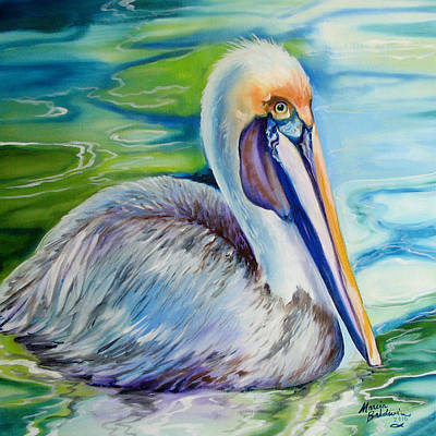 Pelican Painting - Brown Pelican Of Louisiana by Marcia Baldwin