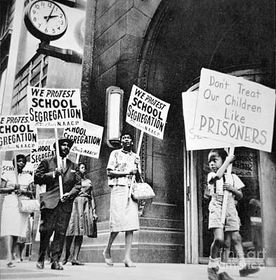 Oppression Photograph - Brown Vs Board Of Education by American School