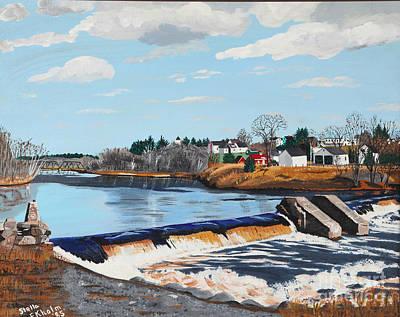 Painting - Brownville Village Dam by Stella Sherman