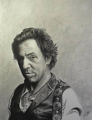 Bruce Springsteen Drawing - Bruce by Jeanne Beutler