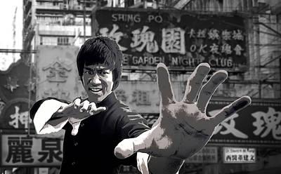 Hong Kong Digital Art - Bruce Lee Founder Of Jeet Kune Do by Daniel Hagerman
