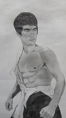 Hong Kong Drawing - Bruce Lee by Premnath Mohan