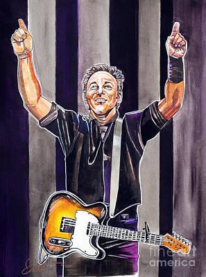 Bruce Springsteen Print by Dave Olsen