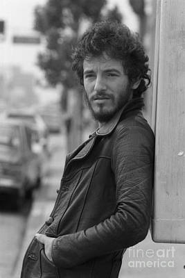 Personalities Photograph - Bruce Springsteen by Terry O'Neill