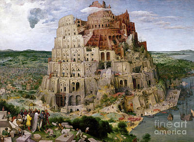 Babel Painting - Bruegel - Tower Of Babel by Granger