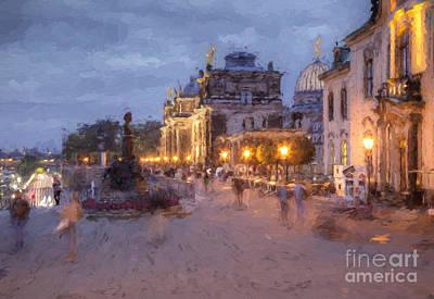 Dresden Photograph - Bruehl Terrace by Julie Woodhouse