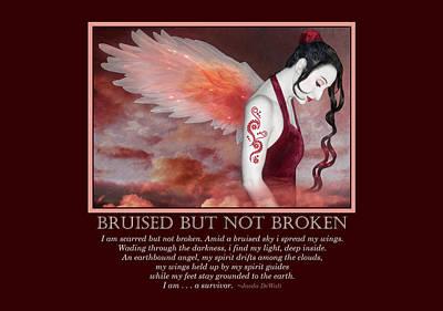 Bruised But Not Broken  Print by Jaeda DeWalt