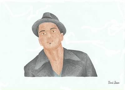 Voice Actor Drawing - Bruno Mars by Toni Jaso