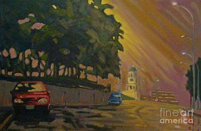 Brunswick Street In The Early Morning Print by John Malone