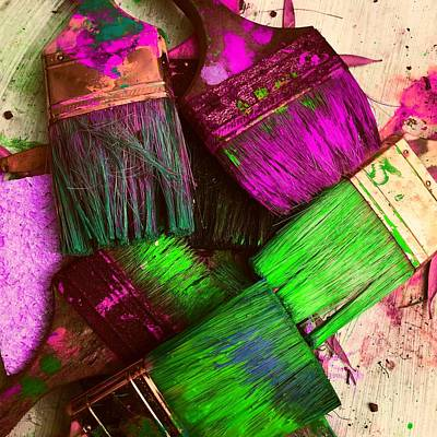Paint Photograph - Brushes by Ca Photography