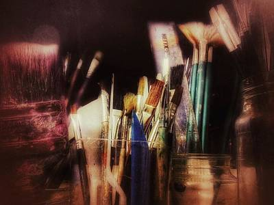 Painter Photograph - Brushes Take Over by Isabella Abbie Shores