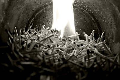 Black And White Photograph - Brushfire 7 by Sumit Mehndiratta