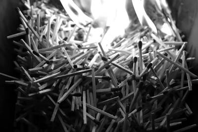 Conceptual Photograph - Brushfire 9 by Sumit Mehndiratta