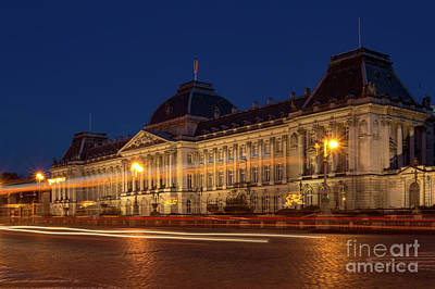 Long Street Digital Art - Brussels By Night, Royal Palace by Sinisa CIGLENECKI