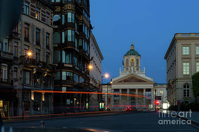 Long Street Digital Art - Brussels By Night, Coudenberg by Sinisa CIGLENECKI