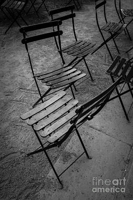 Bryant Park Chairs Nyc Print by Edward Fielding