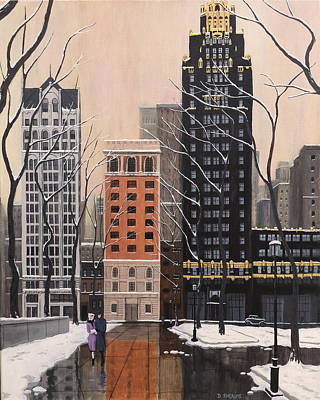 Bryant Painting - Bryant Park by Dave Rheaume