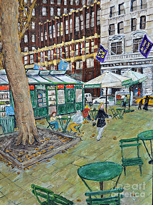 Bryant Painting - Bryant Park by Richard Wandell