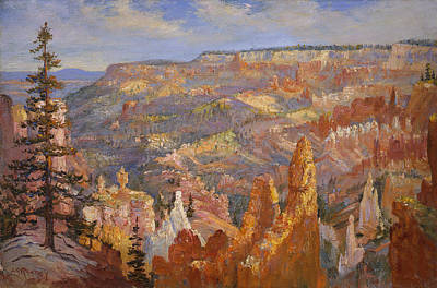 Canyon Painting - Bryce Canyon by Lewis A Ramsey