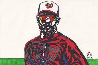 Bryce Harper 2 Original by Jeremiah Colley