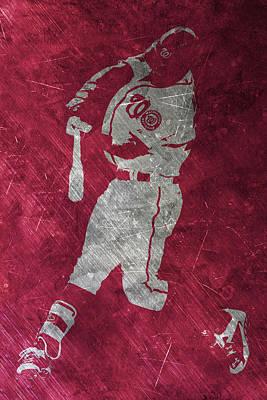 Bryce Harper Washington Nationals Art Print by Joe Hamilton