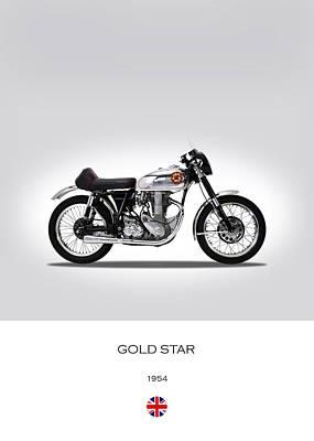Bsa Gold Star 1954 Print by Mark Rogan