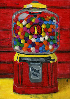 Candy Painting - Bubble Gum Bank by Debbie Brown