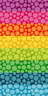 Bubble Rainbow II Print by Edward Fielding