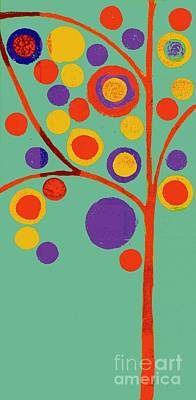 Circles Digital Art - Bubble Tree - 290l - Pop 01 by Variance Collections