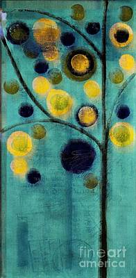 Dyptich Painting - Bubble Tree - 42l1-cb4 by Variance Collections