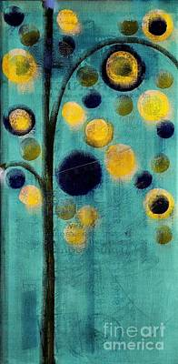 Dyptich Painting - Bubble Tree - 42r1-cb4 by Variance Collections
