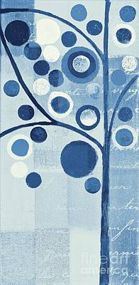 Dyptich Painting - Bubble Tree - S290-01l - Blue by Variance Collections