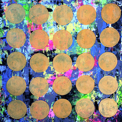 Splashy Art Painting - Bubble Wrap Print Poster Huge Colorful Pop Art Abstract Robert R by Robert R Splashy Art Abstract Paintings