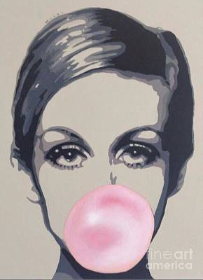 Twiggy Painting - Bubblegum Beauty by Sara Sutton