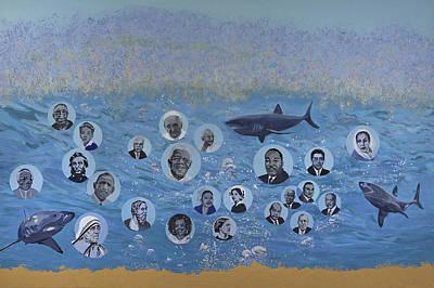 Cesar Chavez Painting - Bubbles Of Social Conscience by Dari Artist