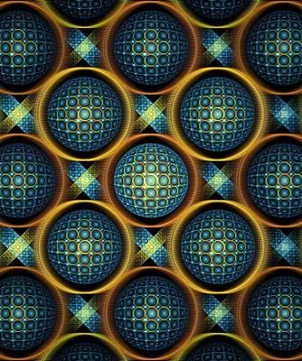 Metal Digital Art - Bubbles - Pattern - Fractal by Anastasiya Malakhova