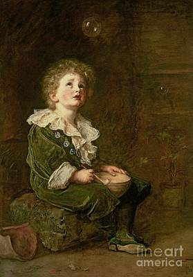 Nineteenth Century Painting - Bubbles by Sir John Everett Millais