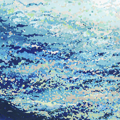 Juul Painting - Bubbling Reflections by Margaret Juul