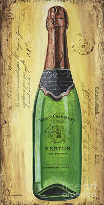 Bubbly Champagne 2 Print by Debbie DeWitt