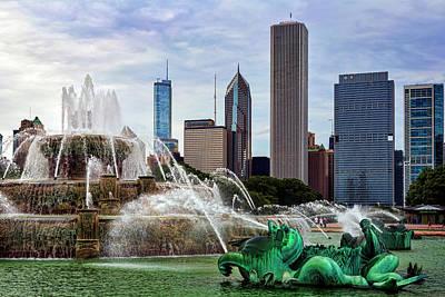 Buckingham Fountain Print by Kelley King