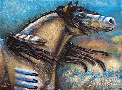 Prairie Sky Painting - Buckskin Bell Blues by Jonelle T McCoy
