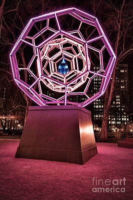 Installation Art Photograph - bucky ball Madison square park by John Farnan