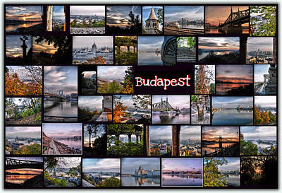 Budapest In October Print by Janos Kovac