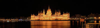 Eastern Europe Painting - Budapest Parliament by Peter Sterling