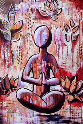 Abstract Painting - Buddha 2 by Kayla Mallen