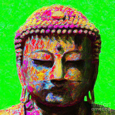 Wingsdomain Digital Art - Buddha 20130130m100 by Wingsdomain Art and Photography